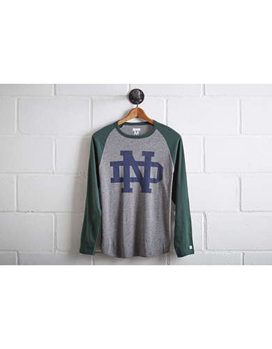 Tailgate Men's Notre Dame Baseball Shirt - Free Returns