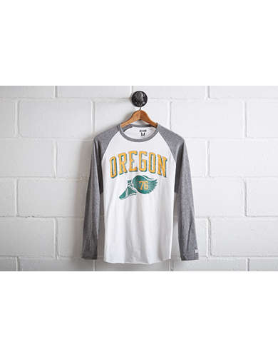 Tailgate Men's Oregon Ducks Baseball Shirt - Free Returns