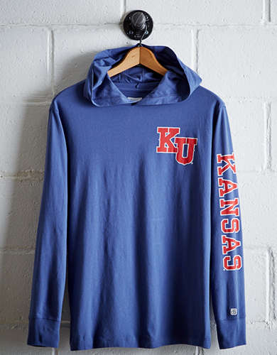 Tailgate Men's Kansas Hoodie Tee - Free Returns