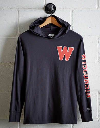Tailgate Men's Wisconsin Hoodie Tee - Free Returns