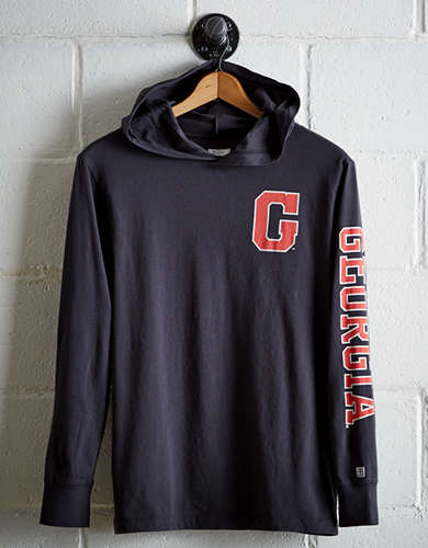 Tailgate Men's Georgia Hoodie Tee - Free Returns