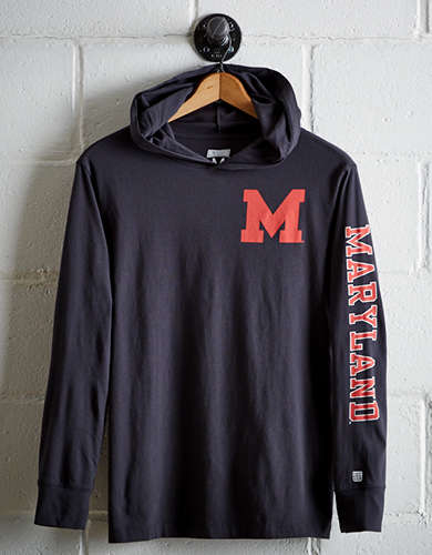 Tailgate Men's Maryland Hoodie Tee - Free Returns