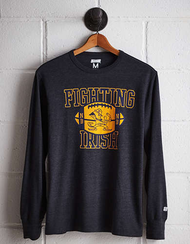 Tailgate Men's Notre Dame Long Sleeve T-Shirt - Free Returns