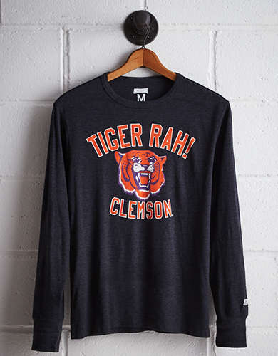 Tailgate Men's Clemson Long Sleeve T-Shirt - Free Returns