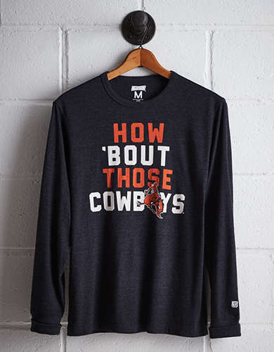 Tailgate Men's Oklahoma State Long Sleeve T-Shirt - Free Returns