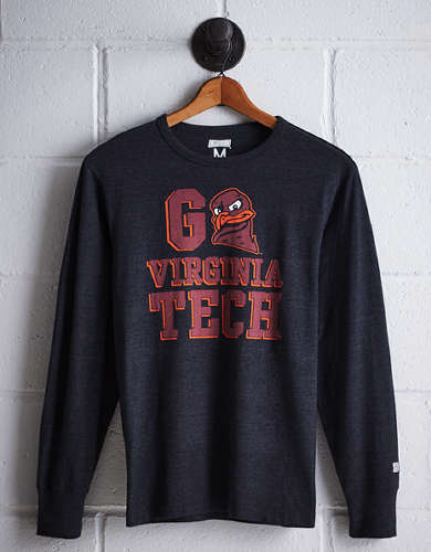 Tailgate Men's Virginia Tech Long Sleeve T-Shirt - Free Returns