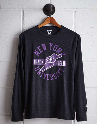 Tailgate Men's NYU Long Sleeve T-Shirt - Free returns