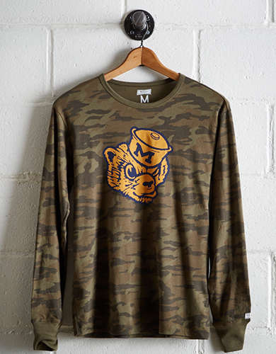 Tailgate Men's Michigan Camo Long Sleeve Tee - Free Returns