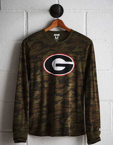 Tailgate Men's Georgia Camo Long Sleeve Tee - Free Returns