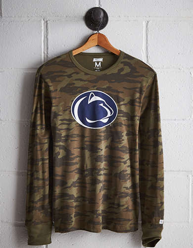 Tailgate Men's Penn State Camo Long Sleeve Tee - Free Returns