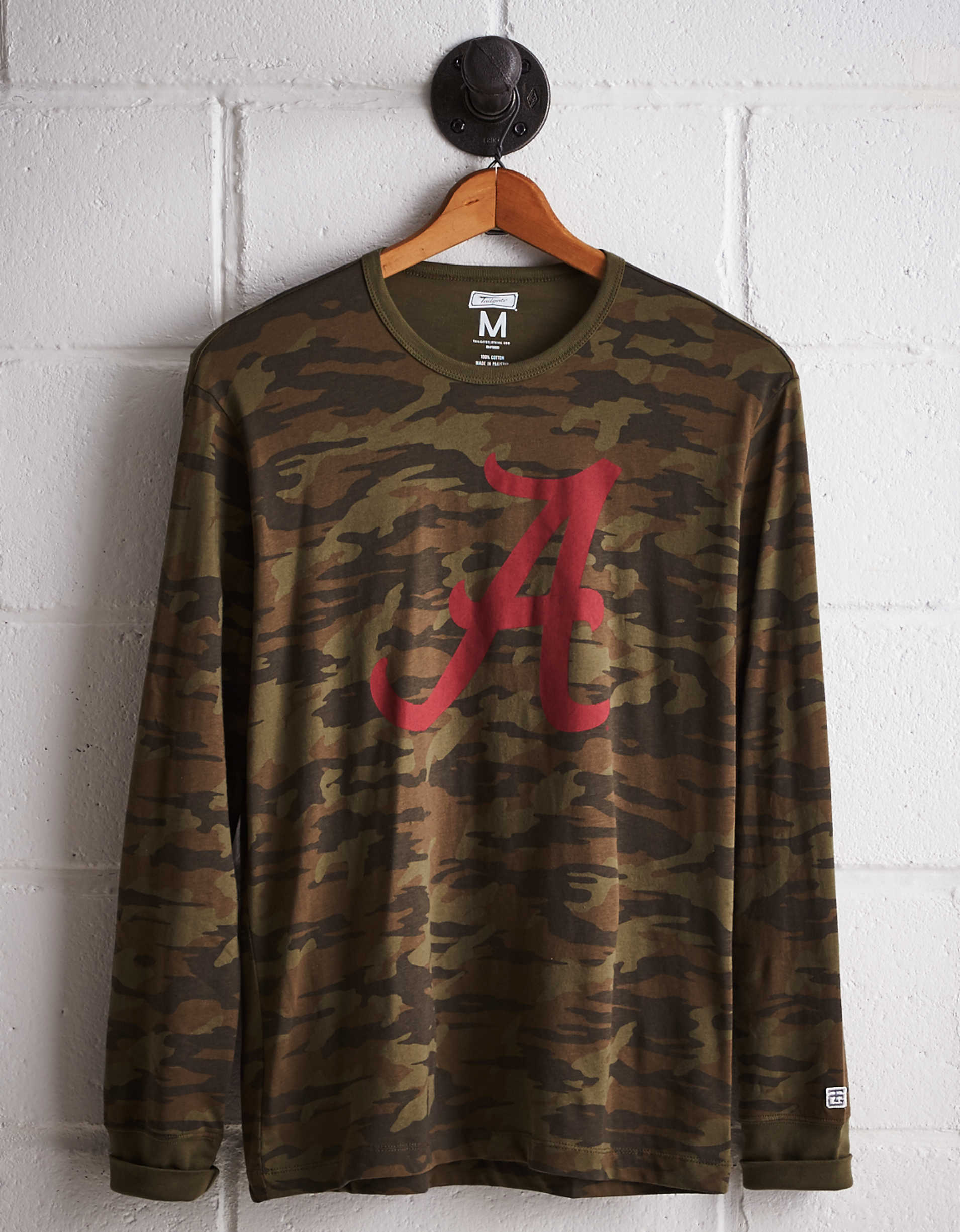 Tailgate Men's Alabama Camo Long Sleeve Tee