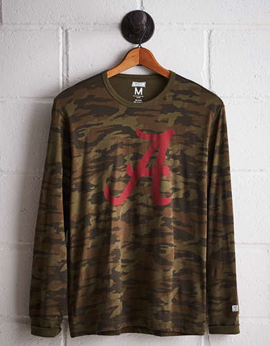 Tailgate Men's Alabama Camo Long Sleeve Tee - Free Returns