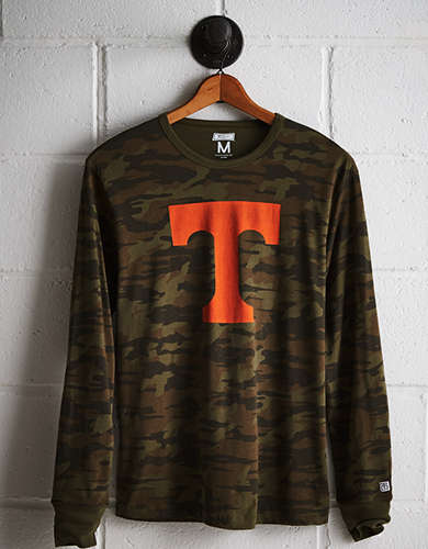 Tailgate Men's Tennessee Camo Long Sleeve Tee - Free Returns