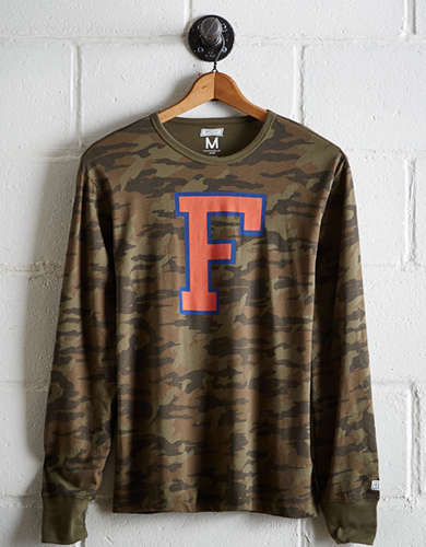 Tailgate Men's Florida Camo Long Sleeve Tee - Free Returns