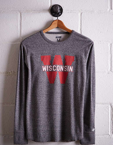 Tailgate Men's Wisconsin Thermal Shirt - Free Returns