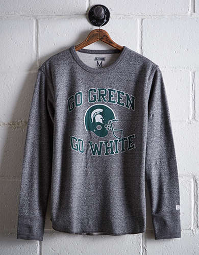 Tailgate Men's Michigan State Thermal Shirt - Free returns