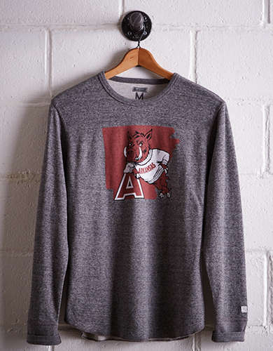 Tailgate Men's Arkansas Thermal Shirt - Free Returns