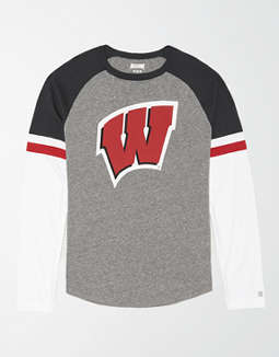 Tailgate Men's Wisconsin Badgers Baseball Shirt