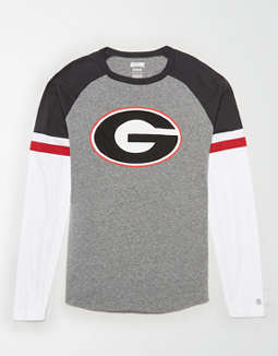 Tailgate Men's Georgia Bulldogs Baseball Shirt