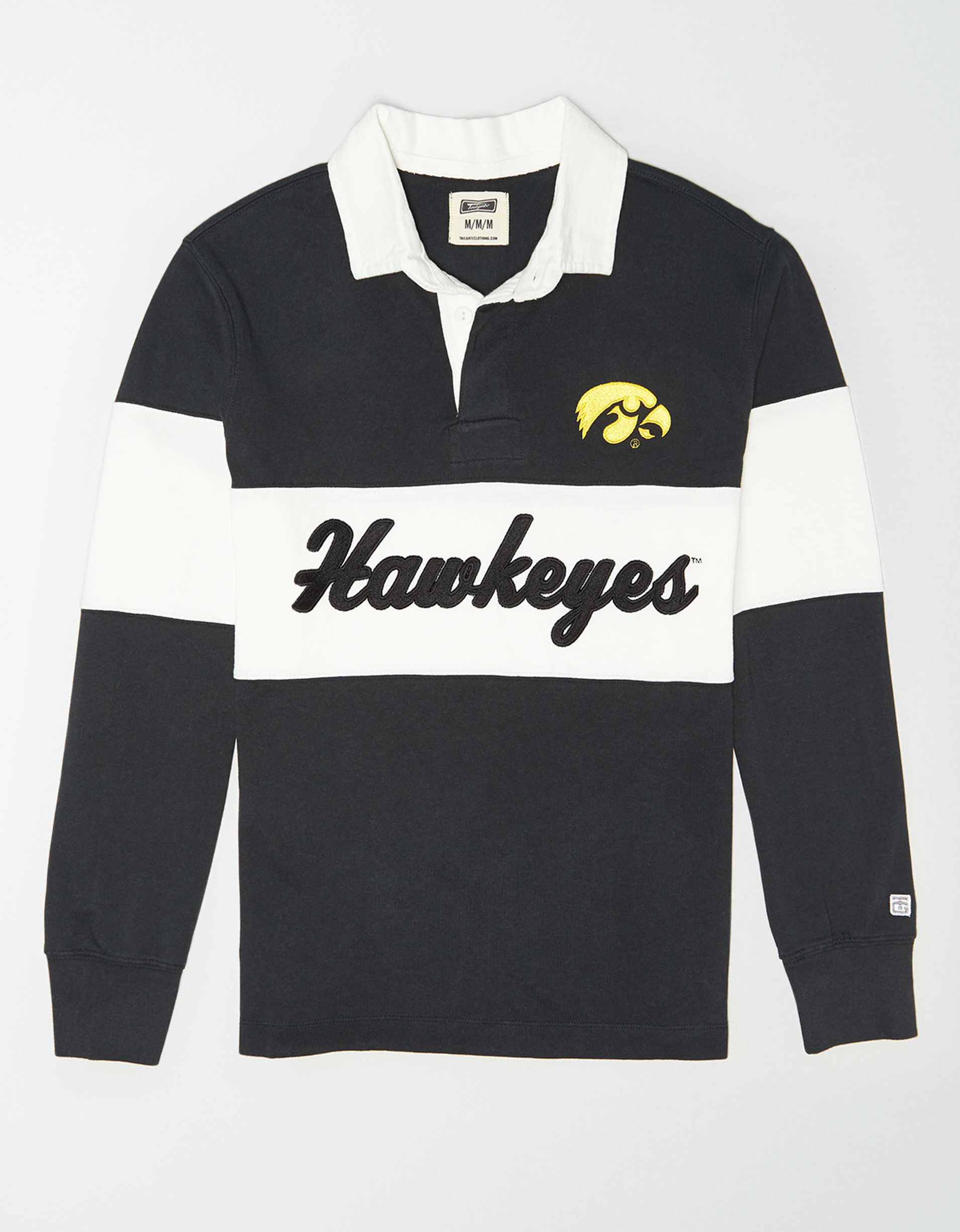 Tailgate Men's Iowa Hawkeyes Rugby Shirt