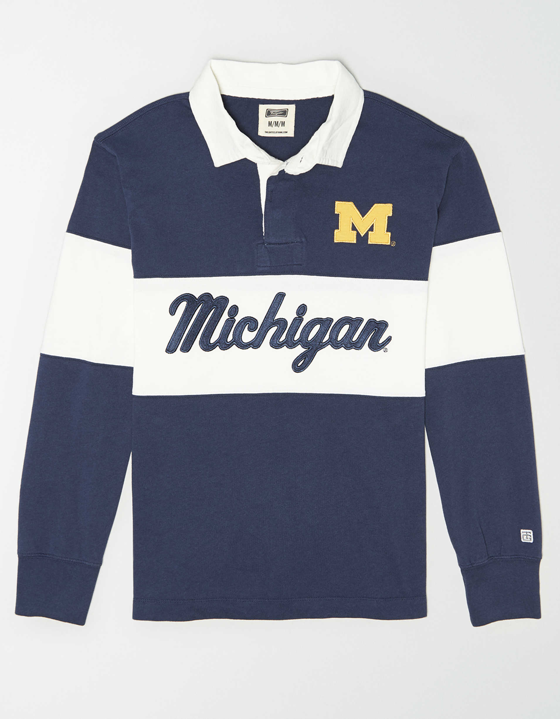 Tailgate Men's Michigan Wolverines Rugby Shirt
