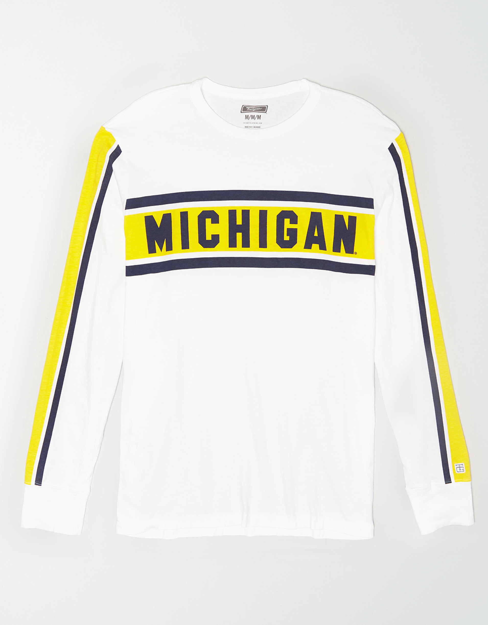 Tailgate Men's Michigan Wolverines Long Sleeve T-Shirt