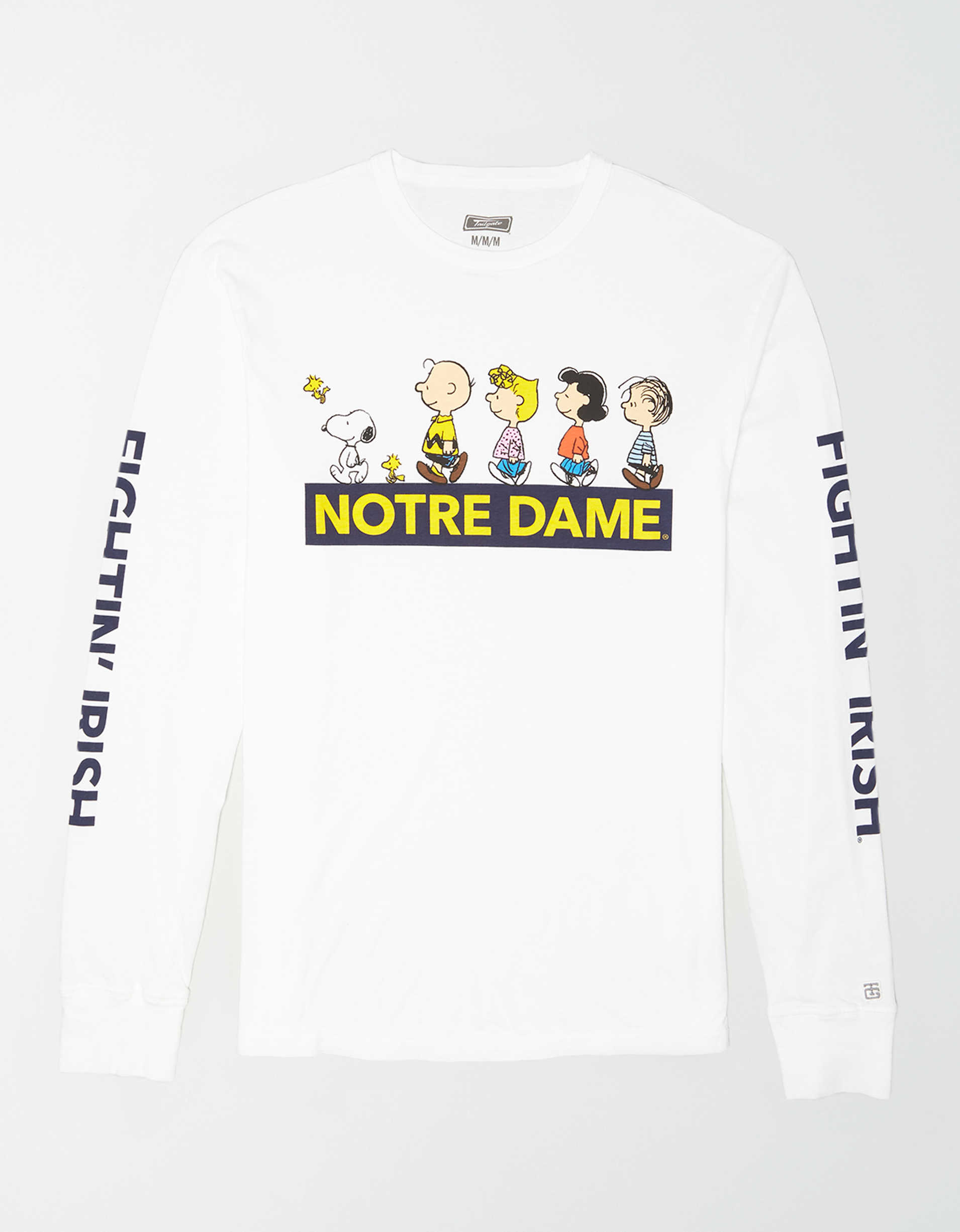 Tailgate x Peanuts Men's Notre Dame Long Sleeve T-Shirt