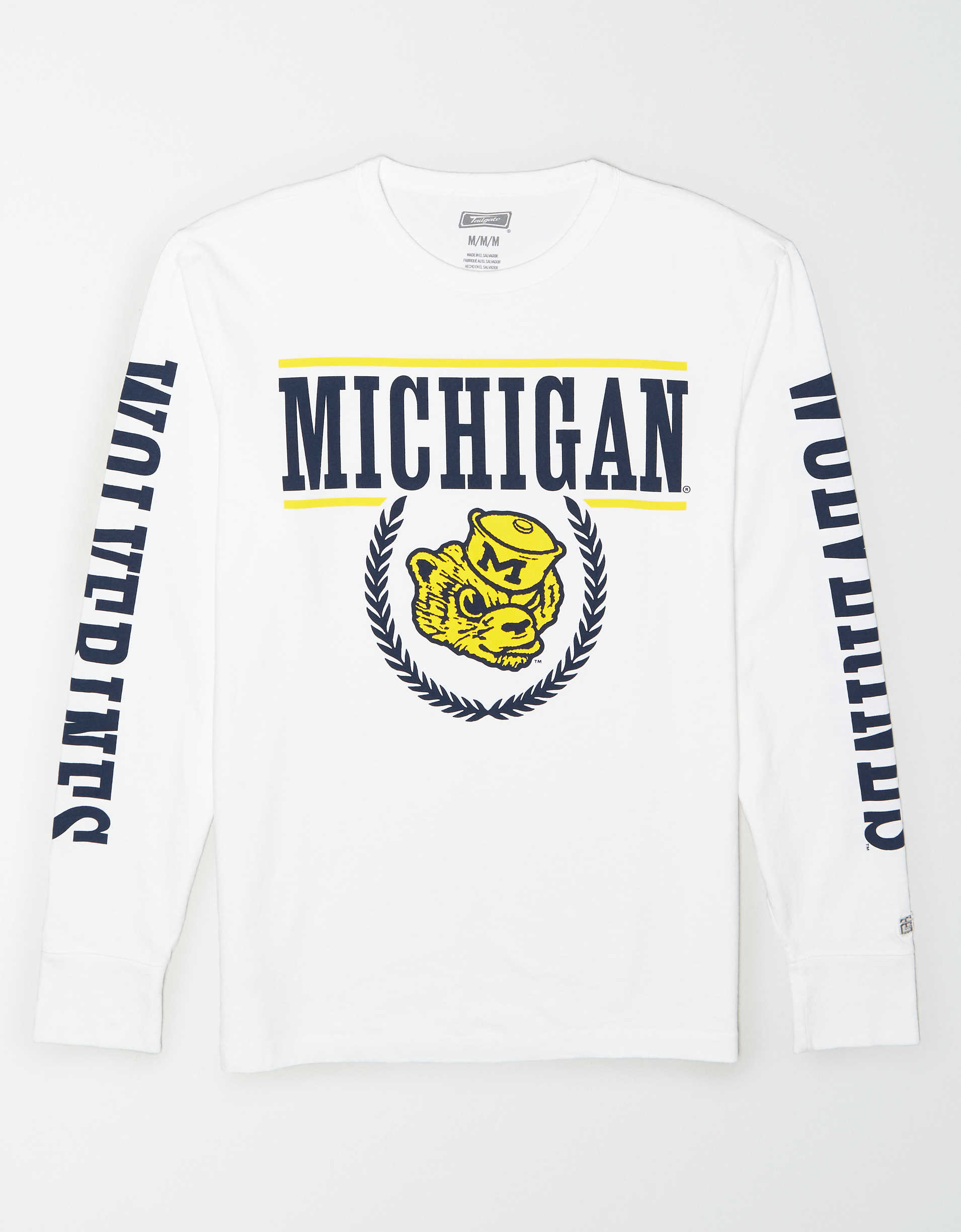 Tailgate Men's Michigan Wolverines Long-Sleeve T-Shirt