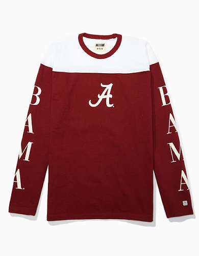 Tailgate Men's Alabama Crimson Tide Long-Sleeve Colorblock T-Shirt