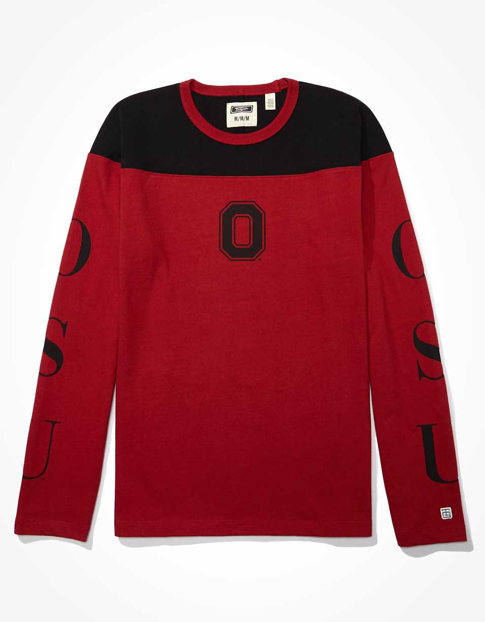 Tailgate Men's OSU Buckeyes Long-Sleeve Colorblock T-Shirt