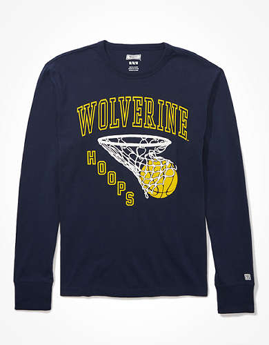 Tailgate Men's Michigan Wolverines Puff Graphic T-Shirt