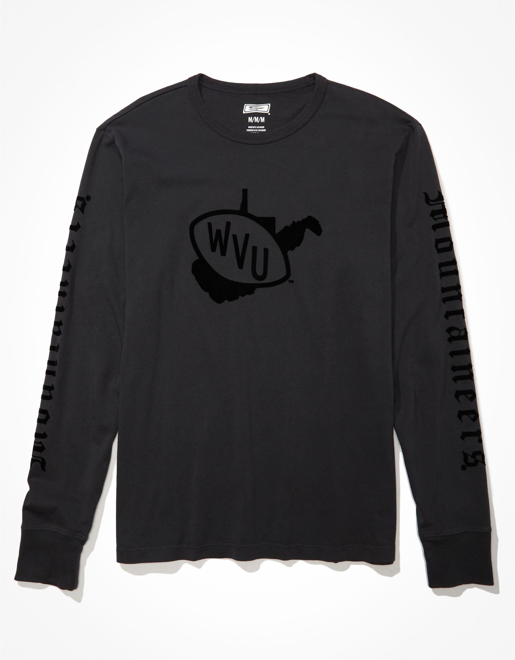 Tailgate Men's WVU Mountaineers Long-Sleeve Tonal T-Shirt