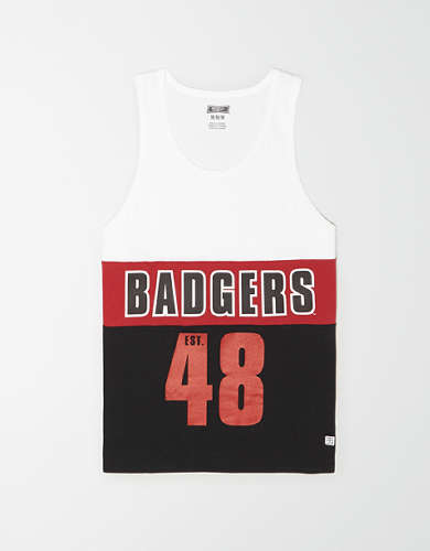 Tailgate Men's Wisconsin Badgers Colorblock Tank Top