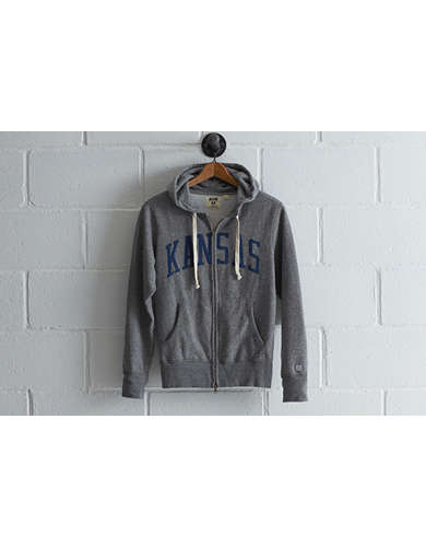 Tailgate Men's Kansas Zip Hoodie - Free Returns