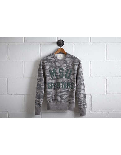 Tailgate Men's Michigan State Camo Sweatshirt - Free Returns