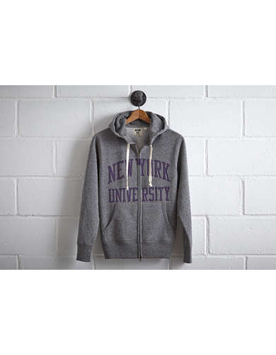 Tailgate Men's NYU Zip Hoodie - Free Returns