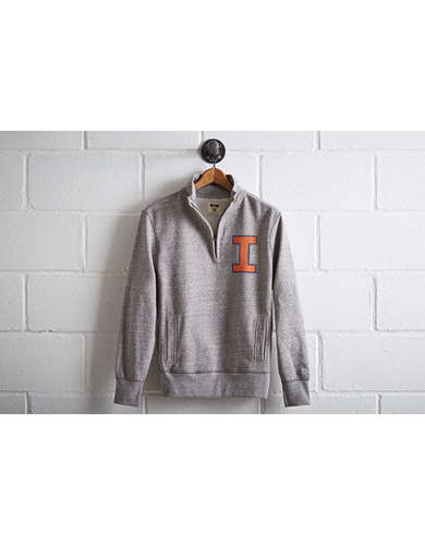 Tailgate Men's Illinois Half-Zip Fleece Popover -