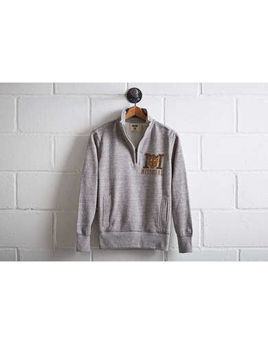 Tailgate Men's Missouri Half-Zip Fleece Popover - Free Returns