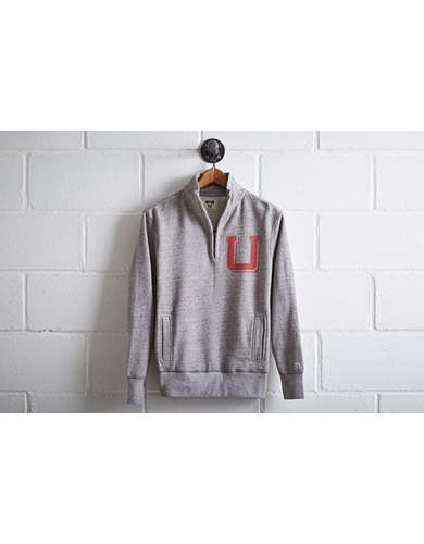 Tailgate Men's Utah Utes Half-Zip Fleece Popover -
