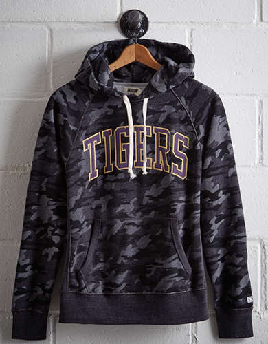 Tailgate Men's LSU Popover Camo Hoodie - Free Returns
