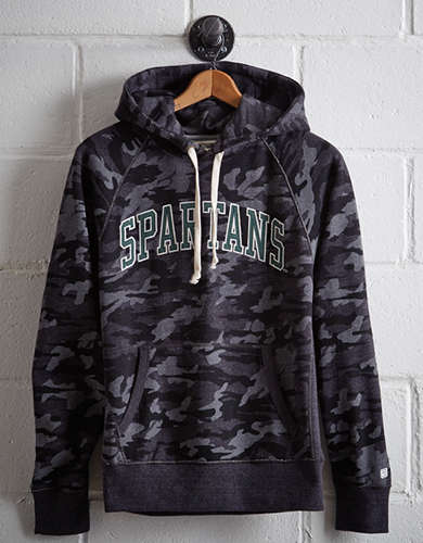 Tailgate Men's Michigan State Popover Camo Hoodie - Free Returns