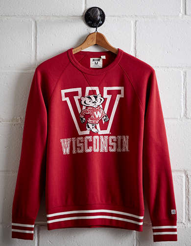 Tailgate Men's Wisconsin Fleece Sweatshirt - Free Returns