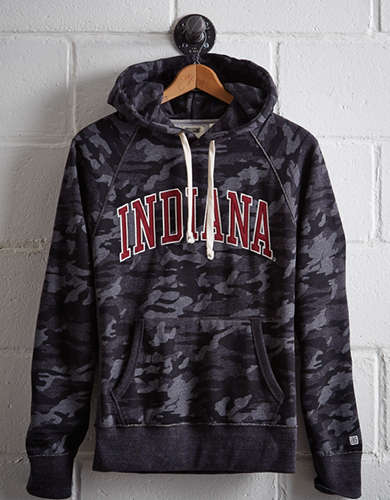 Tailgate Men's Indiana Popover Camo Hoodie - Free Returns