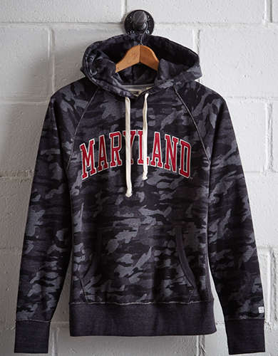 Tailgate Men's Maryland Popover Camo Hoodie - Free Returns