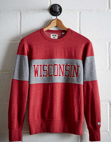 Tailgate Men's Wisconsin Panel Sweatshirt - Free Returns