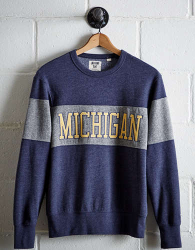 Tailgate Men's Michigan Panel Sweatshirt - Free Returns