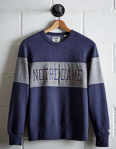 Tailgate Men's Notre Dame Panel Sweatshirt - Free Returns