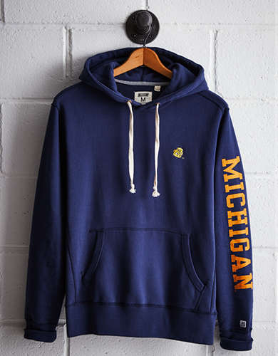 Tailgate Men's Michigan Fleece Hoodie - Free Returns