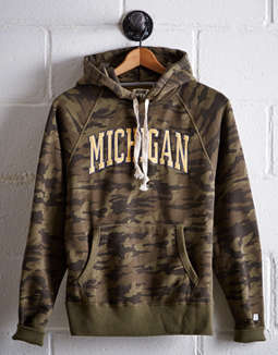 Tailgate Men's Michigan Camo Hoodie