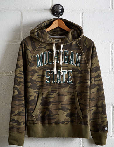 Tailgate Men's Michigan State Camo Hoodie - Free returns